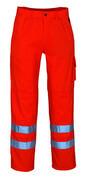 00479-860-14 Byxor med knäfickor - hi-vis orange