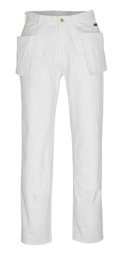 00538-630-06 Byxor med knä- och hängfickor - vit