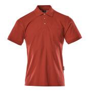 00783-260-02 Pikétröja med bröstficka - röd