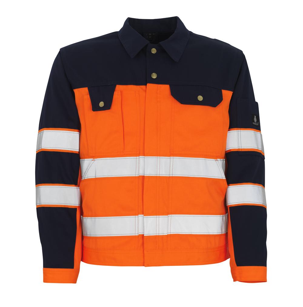 00909-860-141 Jacka - hi-vis orange/marin
