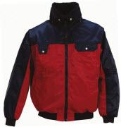 00920-620-21 Pilotjacka - röd/marin