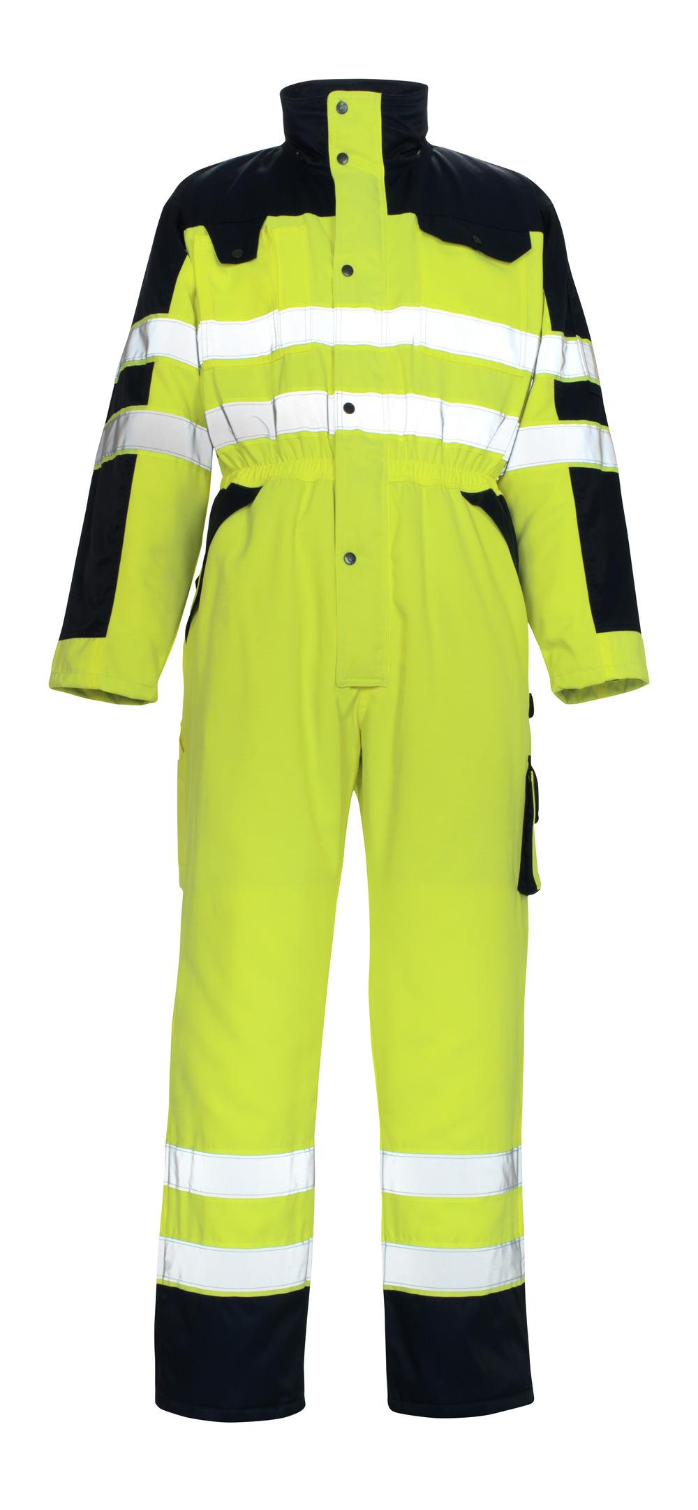 00921-660-171 Vinteroverall - hi-vis gul/marin