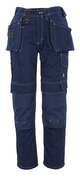 06131-630-01 Byxor med knä- och hängfickor - marin