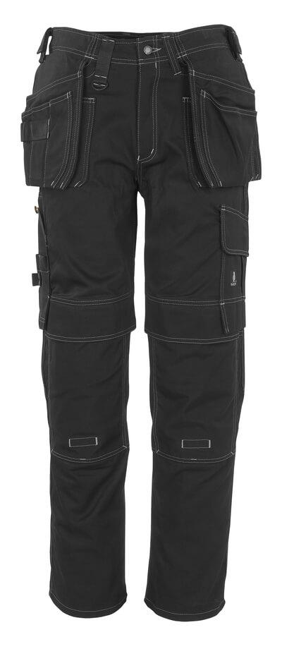 06131-630-09 Byxor med knä- och hängfickor - svart