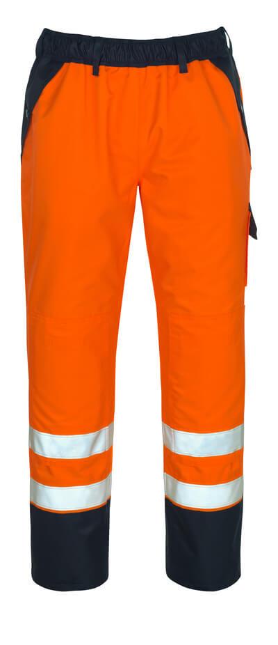 07090-880-141 Överdragsbyxor med knäfickor - hi-vis orange/marin