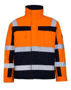 07123-126-141 Pilotjacka - hi-vis orange/marin