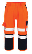 07149-860-141 Knickers med knäfickor - hi-vis orange/marin