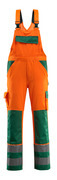 07169-860-1403 Snickarbyxor med knäfickor - hi-vis orange/grön