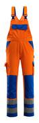 07169-860-1411 Snickarbyxor med knäfickor - hi-vis orange/kobolt