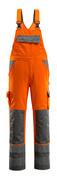 07169-860-14888 Snickarbyxor med knäfickor - hi-vis orange/antracit