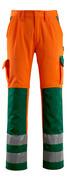 07179-860-1403 Byxor med knäfickor - hi-vis orange/grön