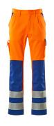 07179-860-1411 Byxor med knäfickor - hi-vis orange/kobolt