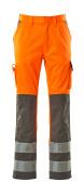 07179-860-14888 Byxor med knäfickor - hi-vis orange/antracit