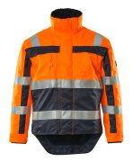 07223-880-141 Vinterjacka - hi-vis orange/marin