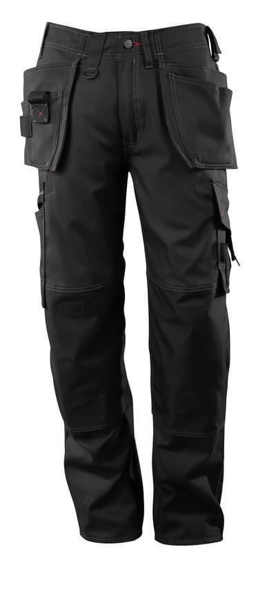 07379-154-09 Byxor med knä- och hängfickor - svart