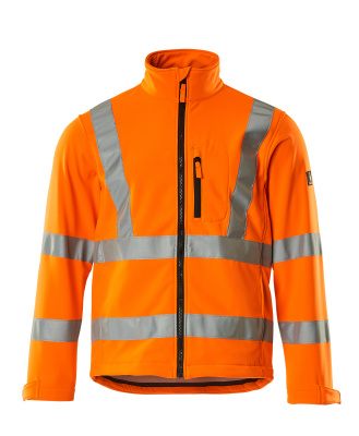 08005-159-14 Softshelljacka - hi-vis orange
