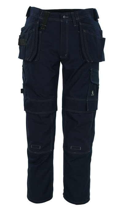 08131-010-01 Byxor med knä- och hängfickor - marin