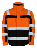 09335-880-141 Vinterjacka - hi-vis orange/marin