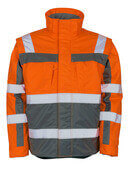 09335-880-14888 Vinterjacka - hi-vis orange/antracit