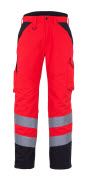 11090-025-A49 Vinterbyxor - hi-vis röd/mörk antracit
