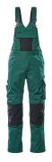 12169-442-0309 Snickarbyxor med knäfickor - grön/svart