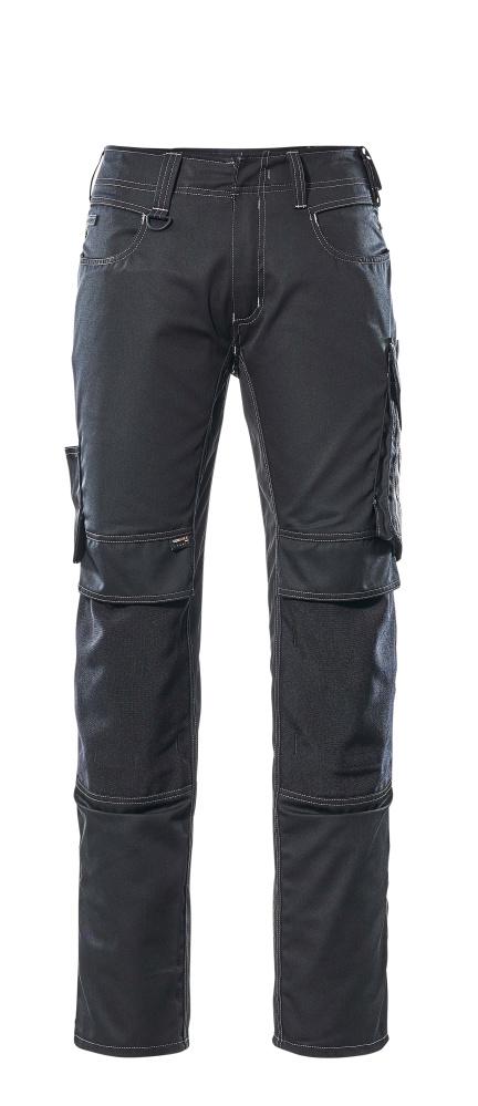 12679-442-0918 Byxor med knäfickor - svart/mörk antracit