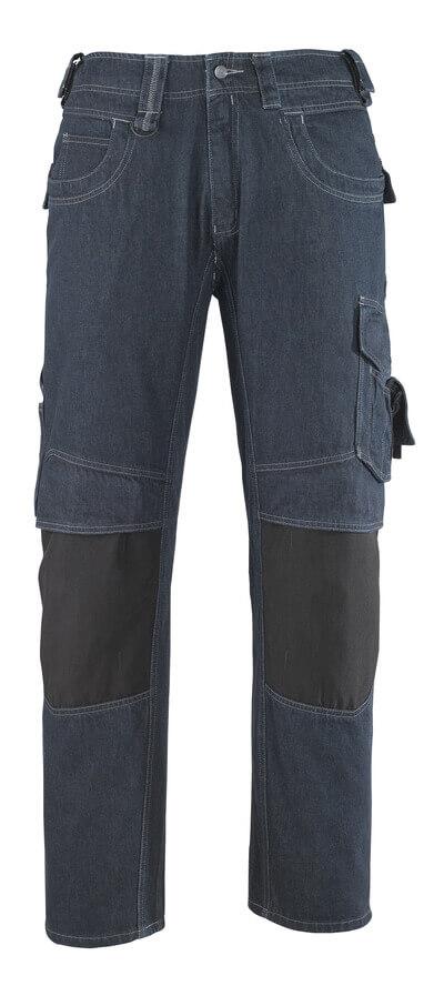 13279-207-B52 Jeans med knäfickor - denimblå