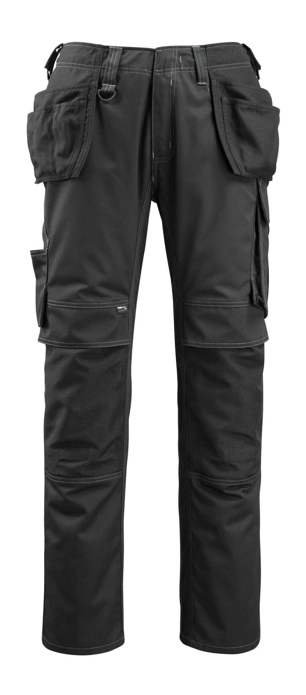 14131-203-09 Byxor med knä- och hängfickor - svart