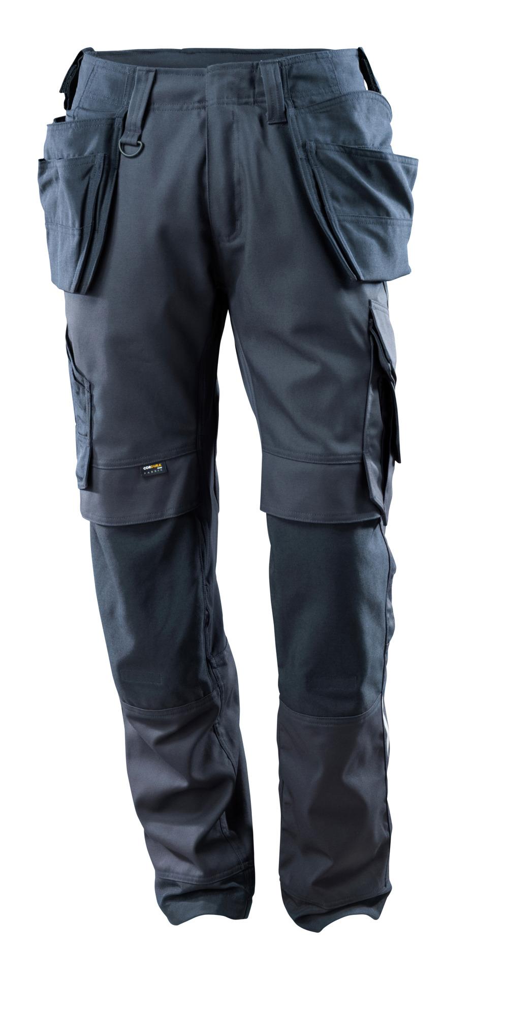 15031-010-010 Byxor med knä- och hängfickor - mörk marin