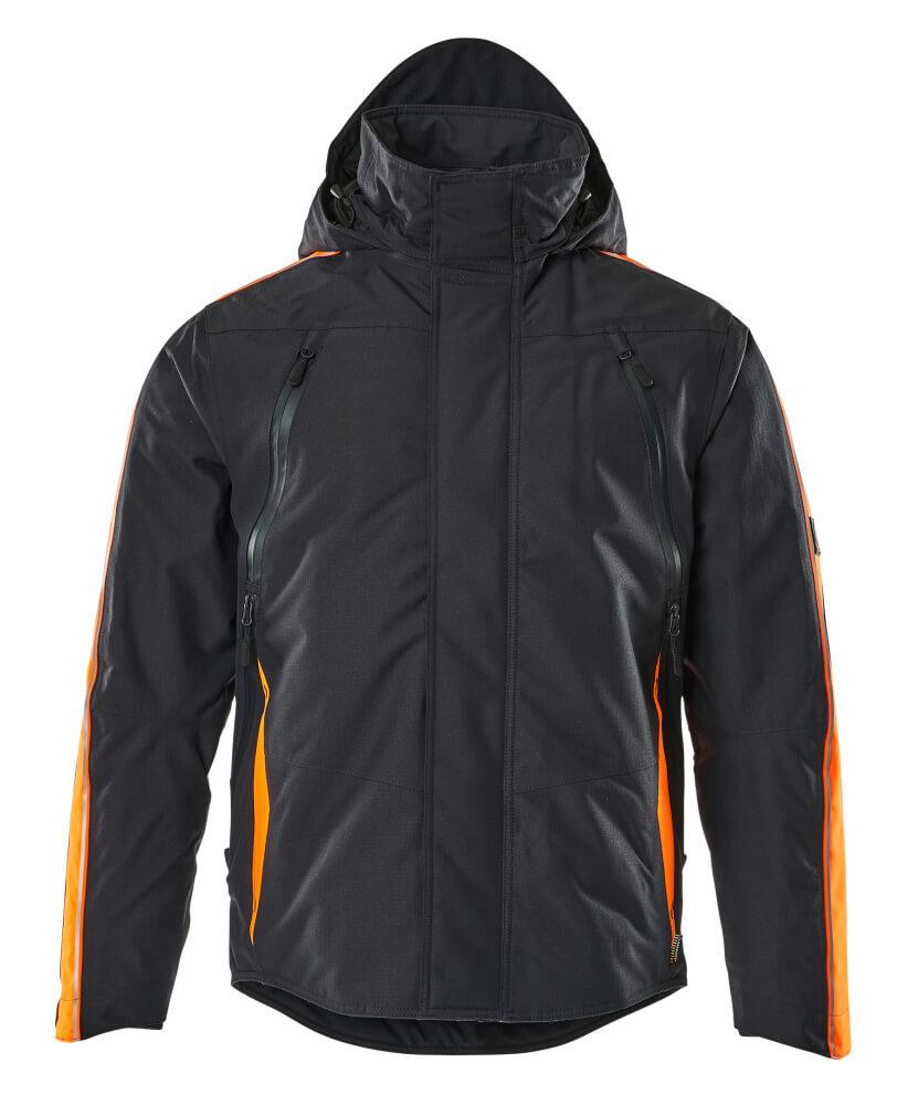 15035-222-01014 Vinterjacka - mörk marin/hi-vis orange