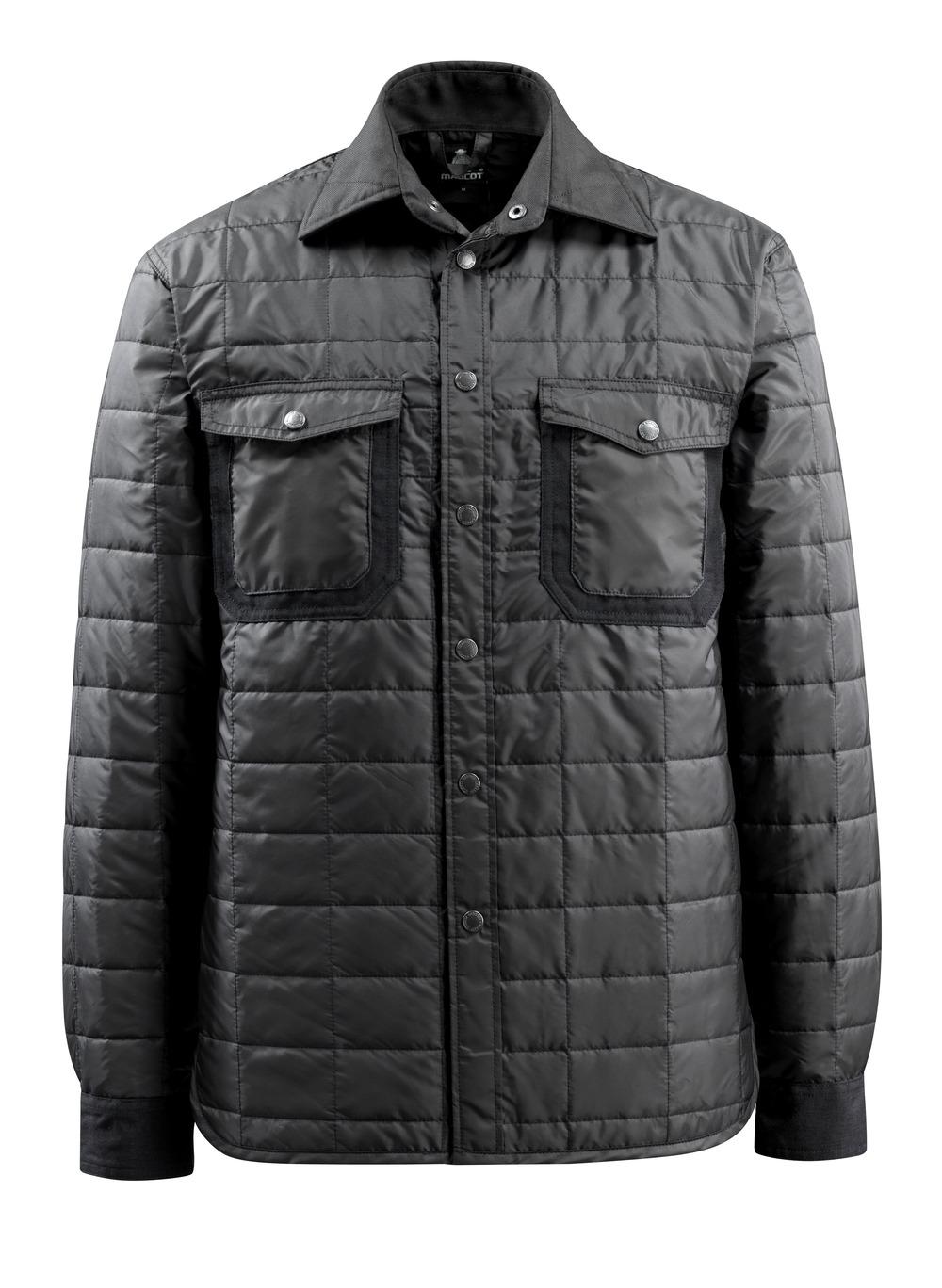 15104-998-09 Skjorta med foder - svart