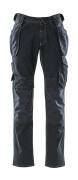 15131-207-86 Jeans med knä- och hängfickor - mörk blå denim