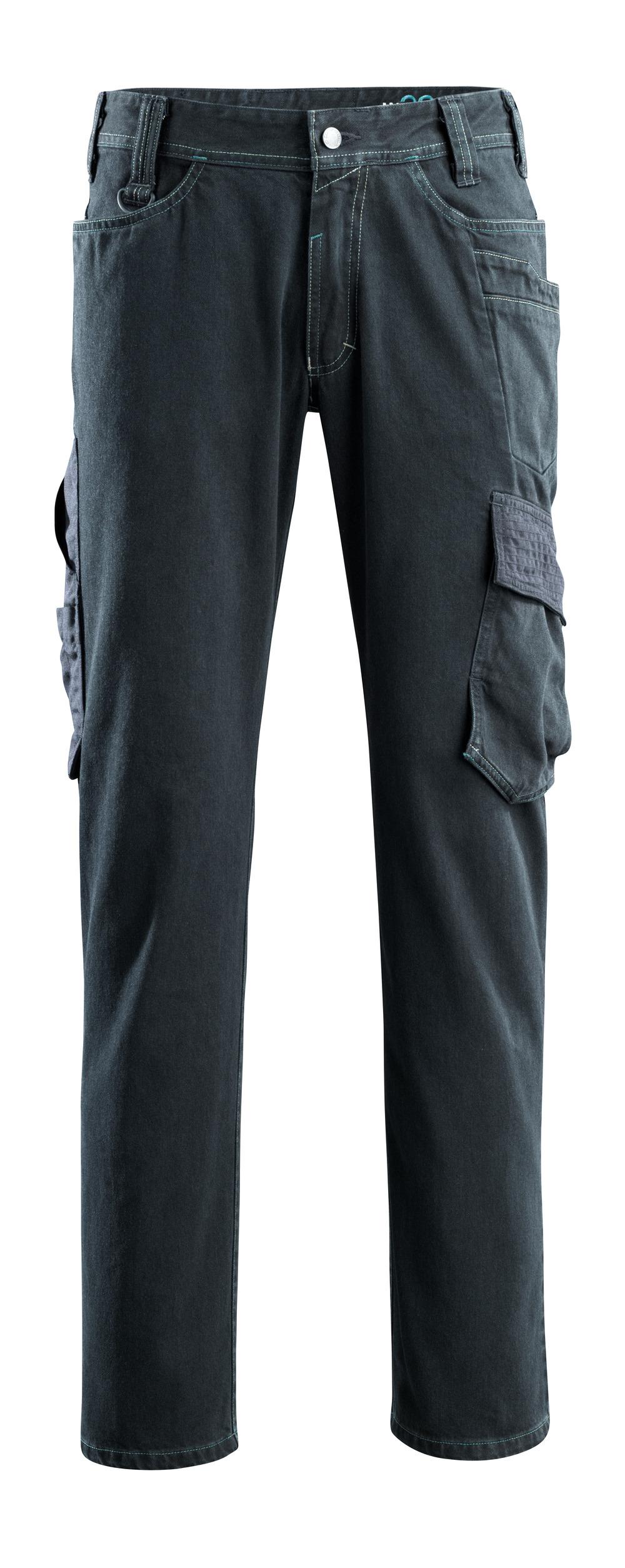 15279-207-86 Jeans med lårfickor - mörk blå denim