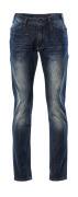 15379-869-66 Jeans - tvättad mörk blå denim