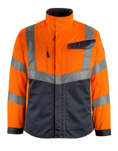 15509-860-14010 Jacka - hi-vis orange/mörk marin