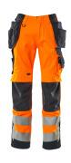 15531-860-14010 Byxor med hängfickor - hi-vis orange/mörk marin