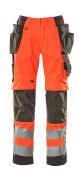 15531-860-14010 Byxor med knä- och hängfickor - hi-vis orange/mörk marin