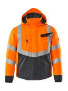 15535-231-14010 Vinterjacka - hi-vis orange/mörk marin