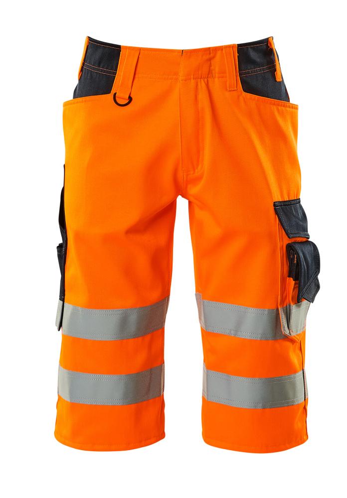 15549-860-14010 Shorts, långa - hi-vis orange/mörk marin