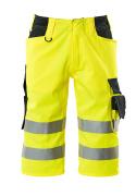 15549-860-17010 Shorts, långa - hi-vis gul/mörk marin