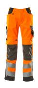 15579-860-1418 Byxor med knäfickor - hi-vis orange/mörk antracit