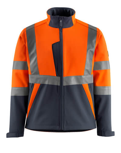 15902-253-14010 Softshelljacka - hi-vis orange/mörk marin
