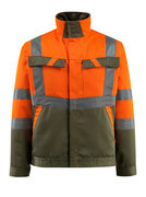 15909-948-1433 Jacka - hi-vis orange/mossgrön