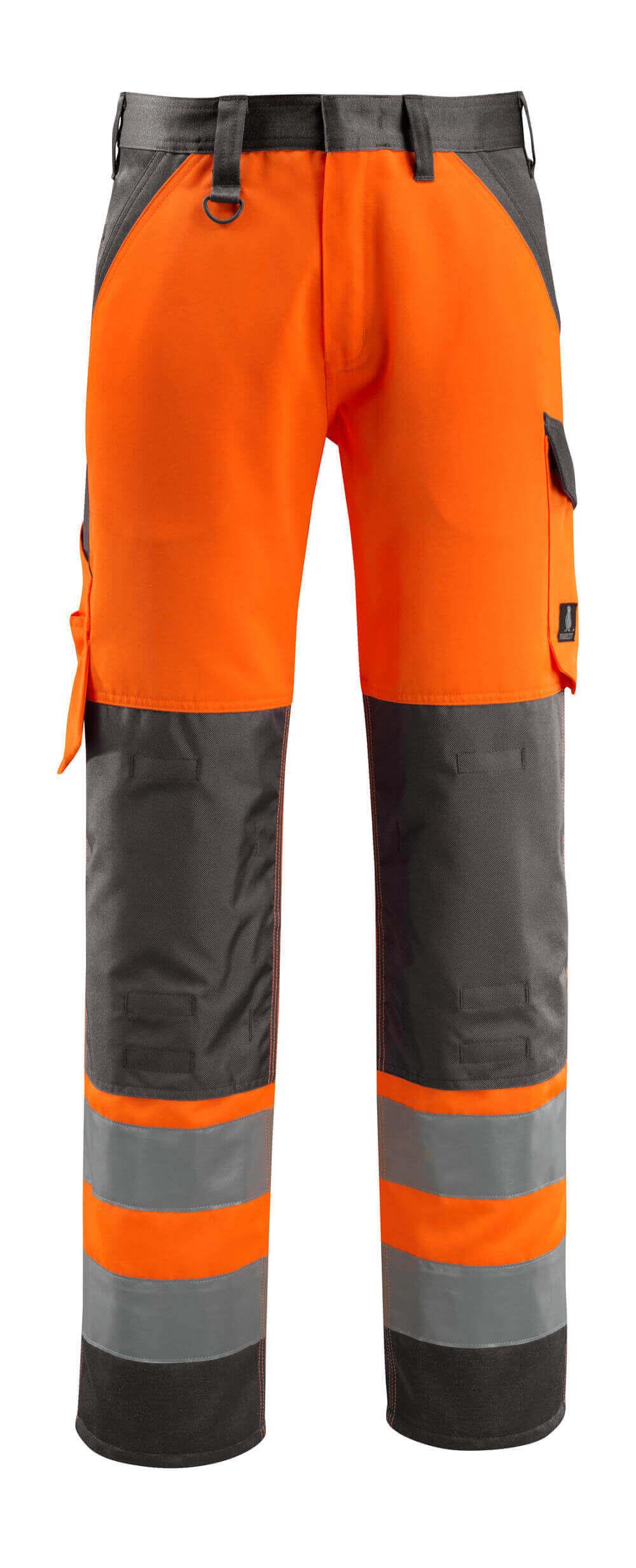 15979-948-1418 Byxor med knäfickor - hi-vis orange/mörk antracit