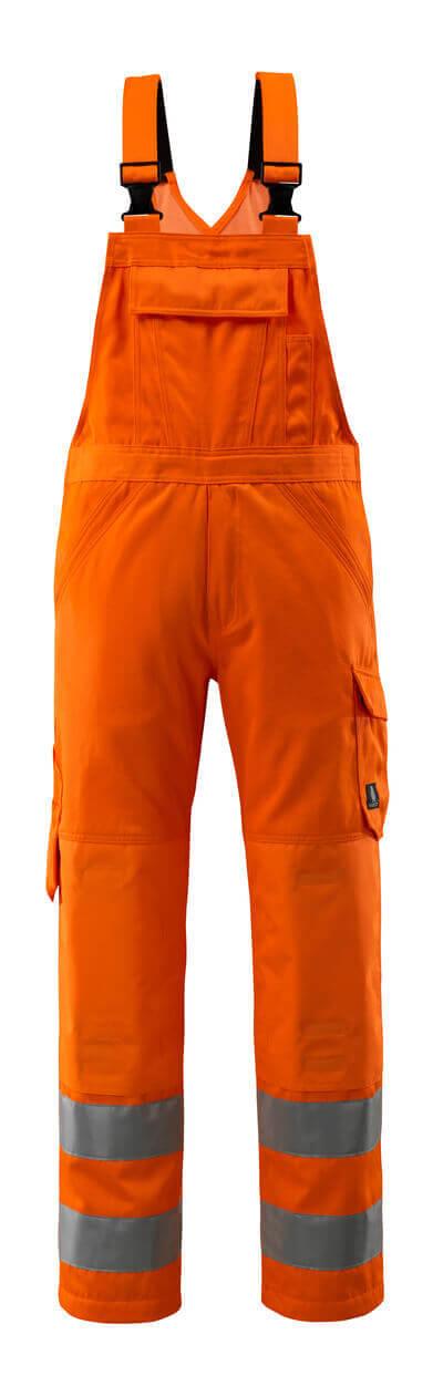16869-860-14 Snickarbyxor med knäfickor - hi-vis orange