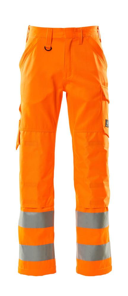 16879-860-14 Byxor med knäfickor - hi-vis orange