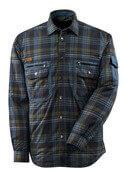 17004-991-01085 Skjorta med foder - mörk marin/stenblå