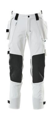 17031-311-010 Byxor med knä- och hängfickor - mörk marin