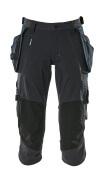 17049-311-010 Knickers med knä- och hängfickor - mörk marin