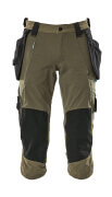 17049-311-09 Knickers med knä- och hängfickor - svart